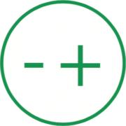 Symbol für: Richtiger Umgang - Beim Lagern und vor dem Entsorgen der Batterien Pole abkleben