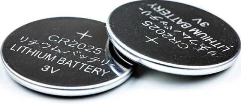 Zwei Lithiumbatterien: Knopfzellen