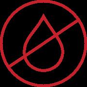 Symbol: Nässe und Feuchtigkeit vermeiden